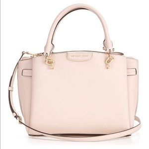 Michael Kors Pink Leather Rochelle Large Purse